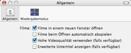 Hohe Videoqualität verwenden